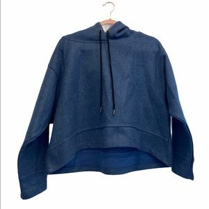 ZARA knit Oversized Pullover Hoodie Size Small GUC